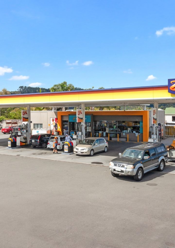 Whakatane petrol station on the market